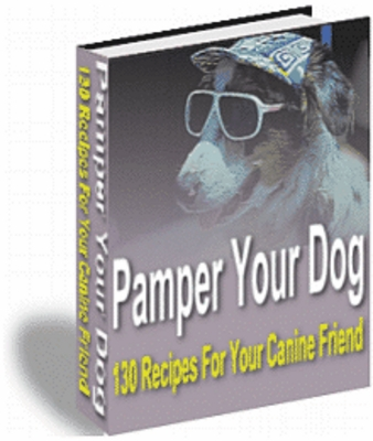 Product picture Pamper your DOG. 130 recipes for your canine friend.